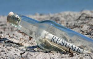 What If I sent my resume to them as a message in a bottle?