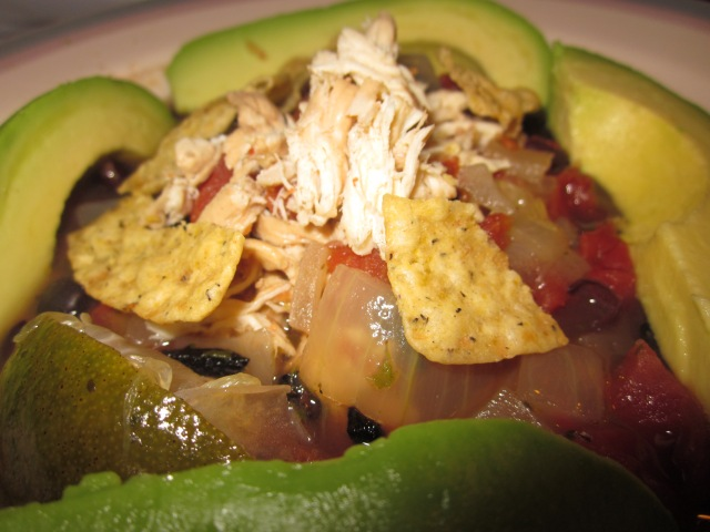 Chicken Tortilla soup recipe -a caffeinated brunette