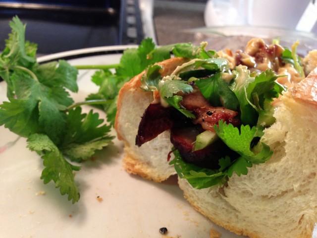 vietnamese fusion sandwich - a caffeinated brunette