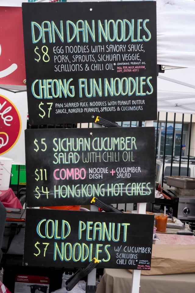 dan dan noodles Smorgasburg - a caffeinated brunette