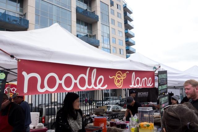 noodle lane Smorgasburg - a caffeinated brunette